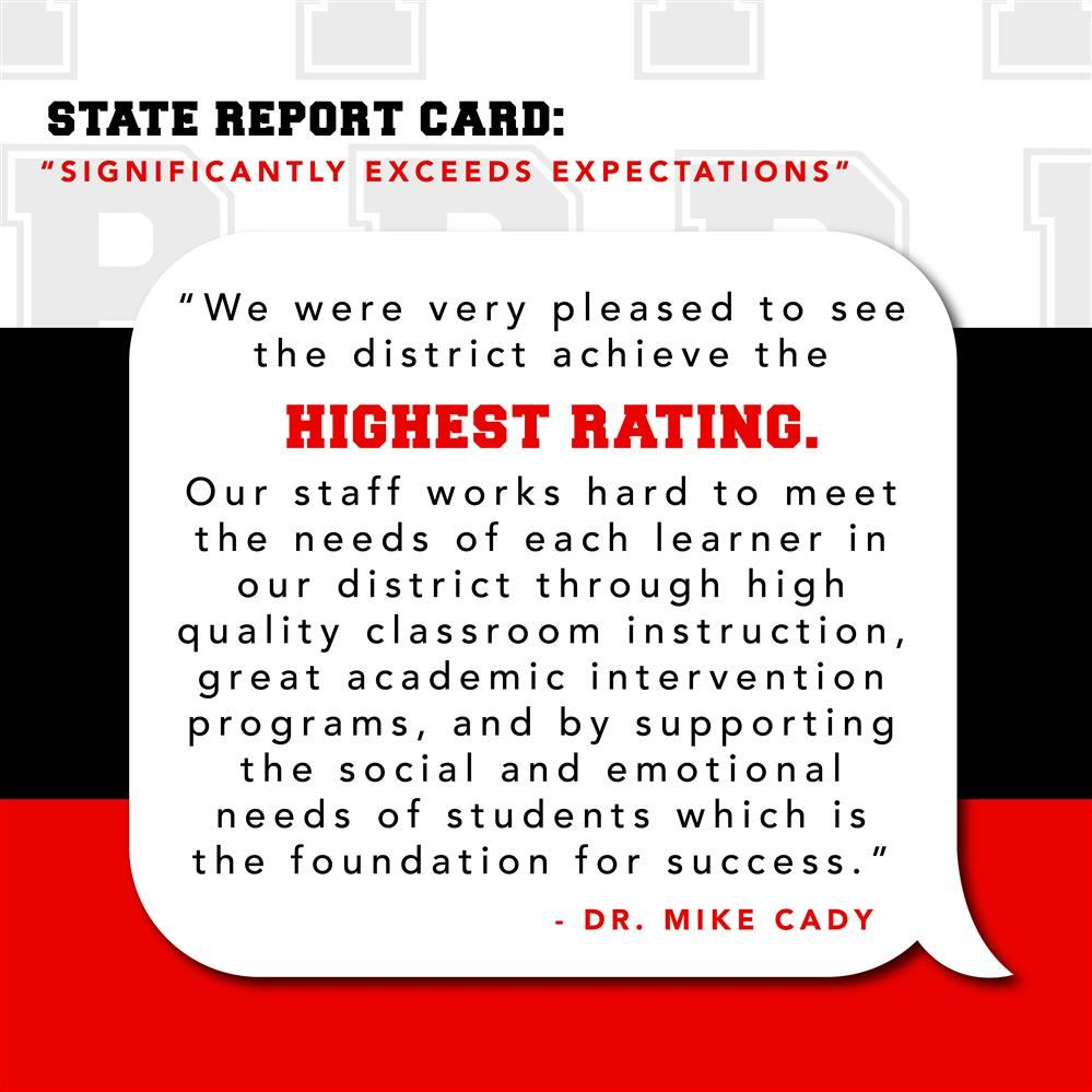PSD SIGNIFICANTLY EXCEEDS EXPECTATIONS ON STATE REPORT CARD