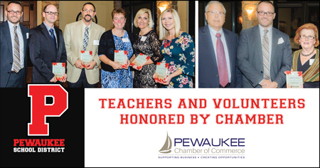 Pewaukee School District Teachers And Volunteers Honored By Chamber