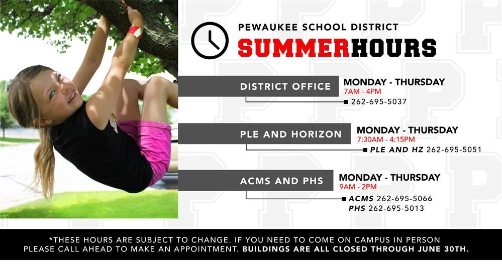 PSD Summer Office Hours